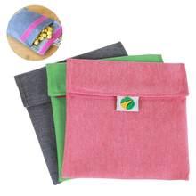 Saco de lanche de sanduíche reutilizável lavável almoço multifuncional frutas armazenamento bolsa recipiente bolso portátil