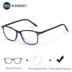 Image 1 - BLUEMOKY Semi Oval Fashion Eyeglasses Anti Blue Ray Spectacles Photochromic Glasses Prescription Glasses Eyewear 2019 BT3021