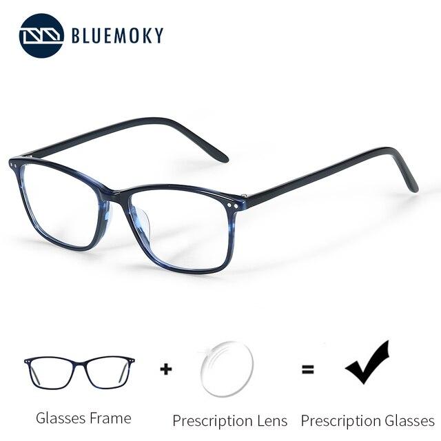 BLUEMOKY Semi Oval Fashion Eyeglasses Anti Blue Ray Spectacles Photochromic Glasses Prescription Glasses Eyewear 2019 BT3021