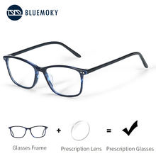 BLUEMOKY lunettes tendance Semi ovales, Anti rayons bleus, verres photochromiques, Prescription, 2019, BT3021
