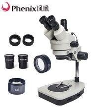 Pherix 3.5X-90X рассекающий микроскоп с зумом стерео Тринокулярный промышленный микроскоп для Jwerelry тест