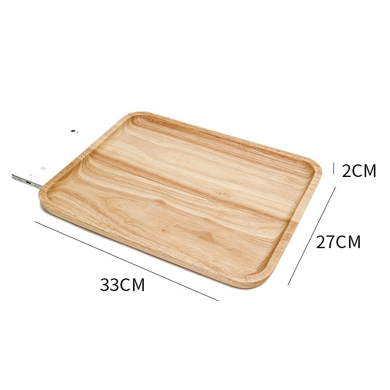 Wooden Round Storage Tray Plate Tea Food Dishe Drink Platter Food Plate Dinner Beef Steak Fruit Snack Tray Home Kitchen Decor - Цвет: 13