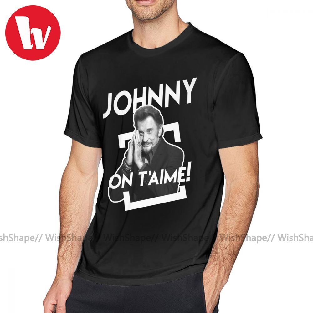 tee shirt johnny hallyday