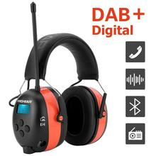 ZOHAN DAB+/DAB/FM Ear Hearing Protection Radio Noise reduction Electronic Bluetooth earmuffs Ear Protector 25dB lithium Battery