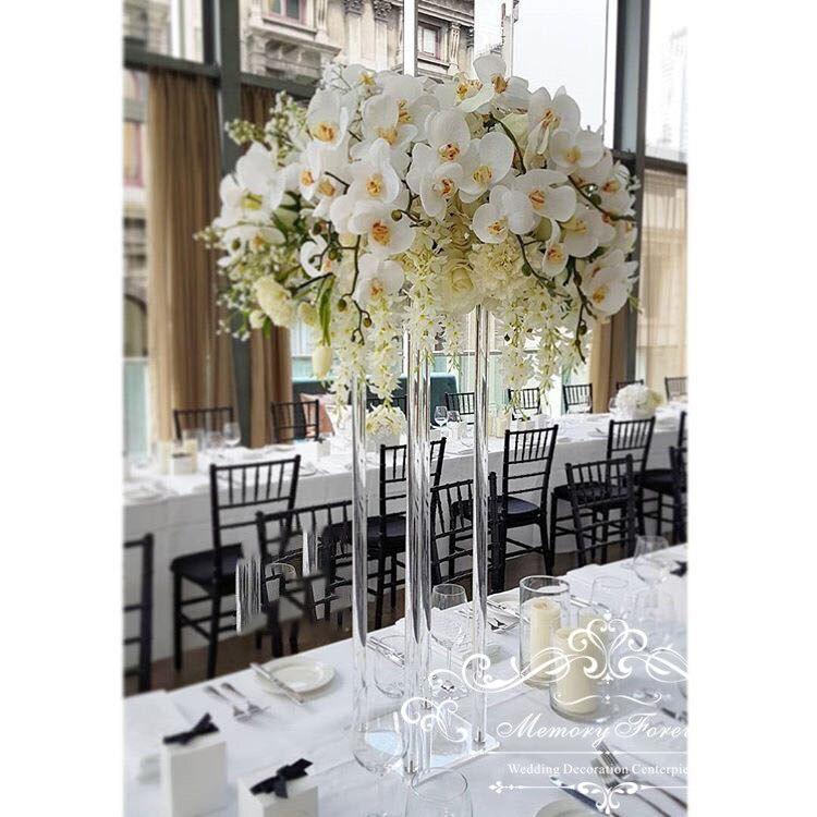 Ev ve Bahçe'ten Parti Kendin Yap Süslemeleri'de Düğün Dekorasyon Centerpiece Temizle Çiçek Standı Evlilik Kristal Akrilik Çiçek Vazo Yol Kurşun Sütun Ayağı Sahne'da  Grup 1