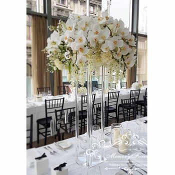 Wedding Decoration Centerpiece Clear Flower Stand Marriage Crystal Acrylic Flower Vase Road Lead Column Pillar Props - DISCOUNT ITEM  0% OFF All Category