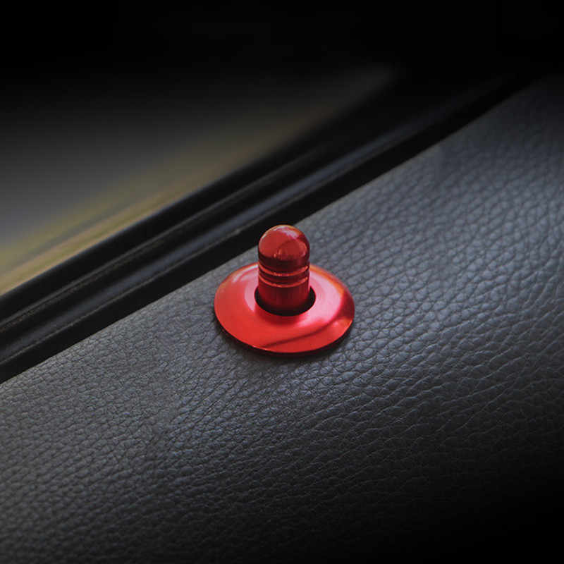 รถยนต์สำหรับ BMW 3 Series E90 อลูมิเนียมประตูสลักลิฟท์ประตูตกแต่ง PIN ครอบคลุมประตู Bolt วงกลม Trim ภายในอุปกรณ์เสริม
