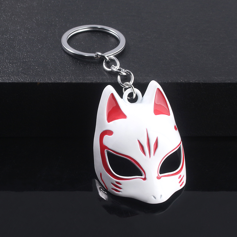 3D Game Persona 5 Fox Keychain Pure Manual Assembly Keyring Men Women Charm Jewelry