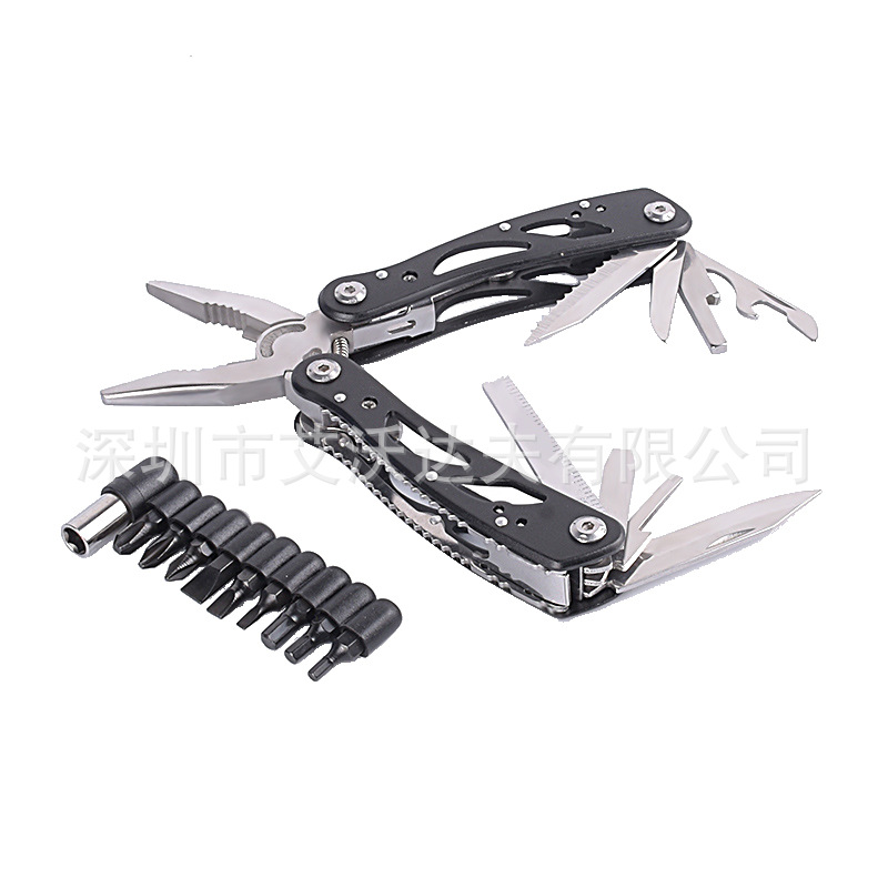 Multi-functional Stainless Steel Universal Combination Zhe Die Qian Camping Portable Pliers Outdoor High Hardness Small Tools