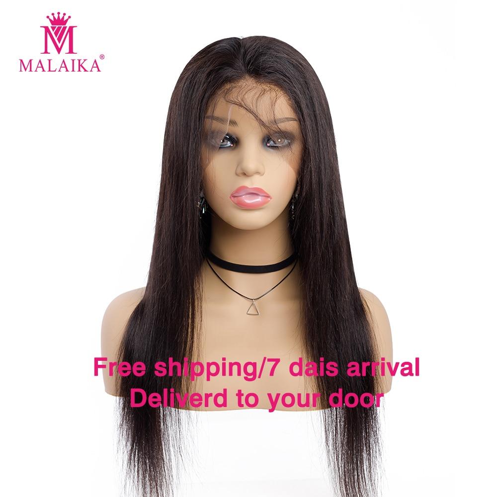 MALAIKA Hair Full Lace Human Hair Wigs 12-26 Inch Brazilian Hair Straight Hair Natural Color 100% Human Hair Wigs
