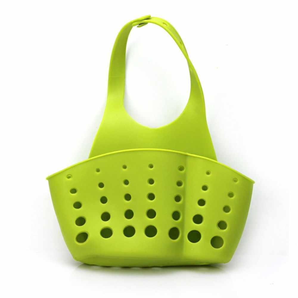 Zlinkj 1 pçs banheiro gadgets cozinha talheres sabão pendurado prateleiras de água torneira lavanderia cesta pia rack armazenamento cesta