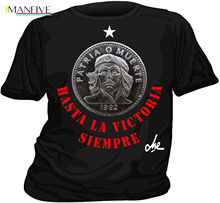 2019 Fashion Solid Color Men Tshirt T-shirt CHE GUEVARA HASTA LA VICTORIA SIEMPRE Casual Tee