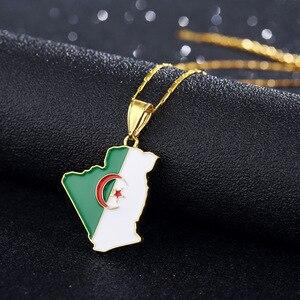 Algeria Flag Pendant Necklace