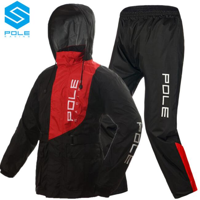 POLE Waterproof Motorcycle Rain Suit Raincoat+Rain Pants Ventilate Poncho Motorcycle Rain Jacket Riding Motorbike Rain Shoes