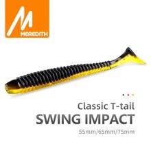 MEREDITH Swing Impact Fishing Baits 55mm 65mm 75mm Fishing Soft Lures Sea Fishing Leurre Souple Silicone Lures Bait