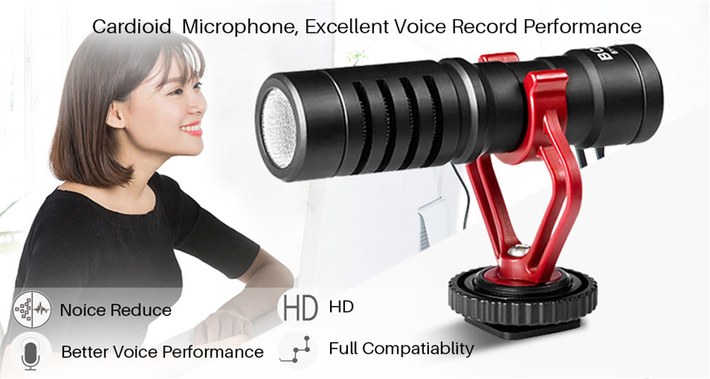 microfone para câmera dslr smartphone osmo bolso