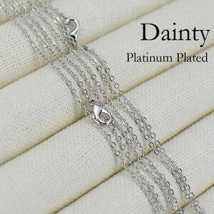 Image 5 - Ожерелье с серебряным покрытием 100 шт 18 дюймов, ожерелье цепочка с серебряным покрытием, изысканное ожерелье цепочка, изящное ожерелье цепочка