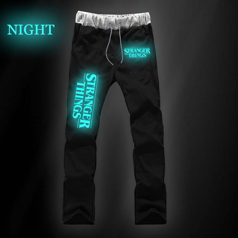 Stranger Things Print Pants Casual Pants Fashion Men/Women Cotton Outdoors Sports Male Female  Trousers Jogger Pants Xxs-4xl