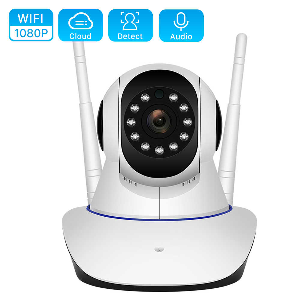 Cloud 1080P WiFi IP กล้อง 2MP 4X Digital ZOOM MOTION DETECT Wireless กล้อง H.265 P2P ONVIF เสียง 2MP บ้านกล้องวงจรปิดความปลอดภัยกล้อง