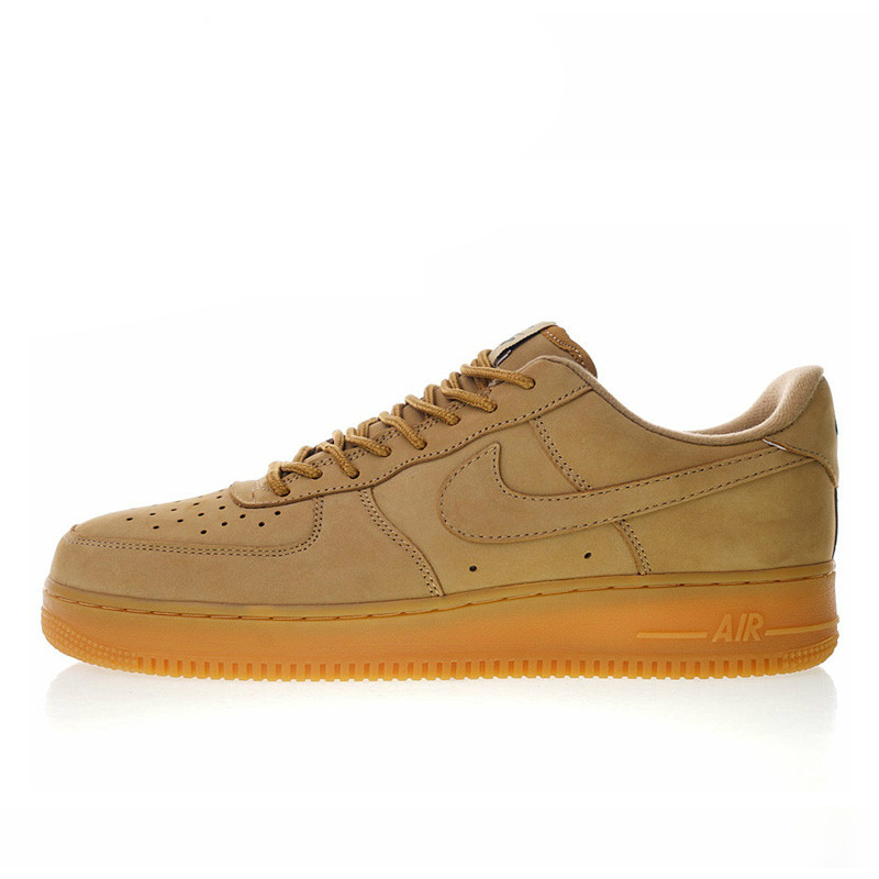 US $69.6 42% OFF|New High Quality Nike Air Force 1 Low 07 Flax Men and Women Skateboarding Shoes Outdoor Sneakers Shock Absorption AA4061 200 on
