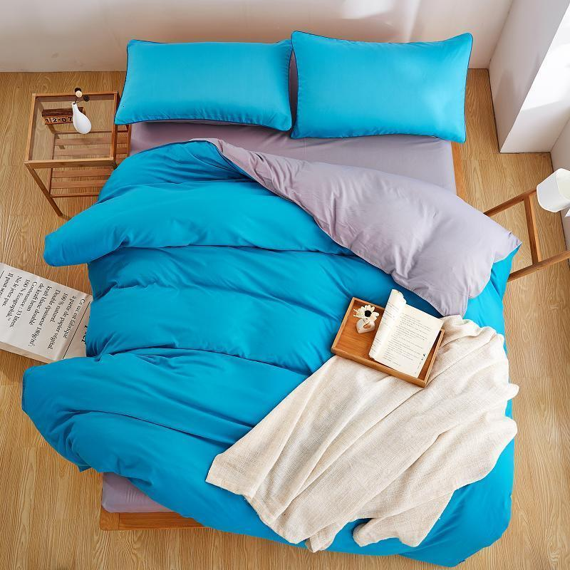 Plain Color Linen Bedding Sets  Best Polyester Microfiber Bed Sheet Sets