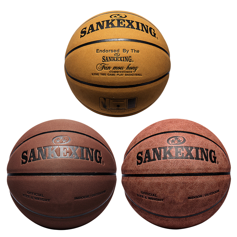 PU Basketball Official Size 7 Leather Basketballs In/Outdoor Anti-Slip Sports Ball PU Leather Game Training Sports Net Bag NEW