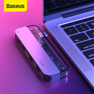 Baseus USB C HUB to Multi HDMI USB 3.0 USB HUB for MacBook Adapter Accessories Pro Thunderbolt 3 SD Card Reader Type-C USB HUB(China)