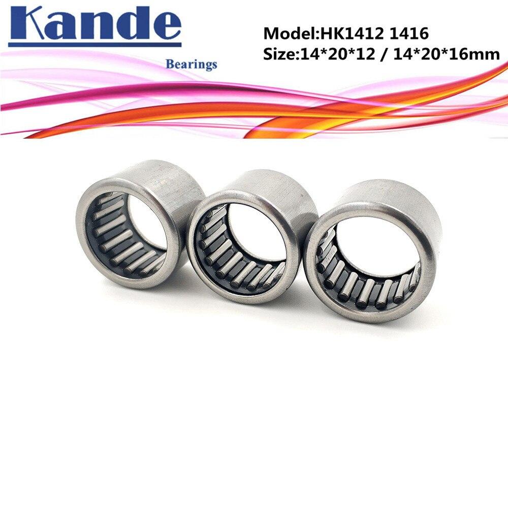 kande bearing HK1412 HK1416 Needle Bearings Needle Roller Bearing 14X20X12mm 14x20x14mm free shippin