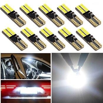 10PCS W5W T10 LED Bulbs Car License Number Plate Light For Hyundai Tucson Elantra Accent IX35 I30 Sonata Santa Veracrus Rohens