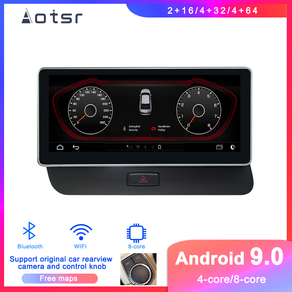 Android 9 Car DVD player GPS Navigation For <font><b>Audi</b></font> Q5 B8 2009-2015 Car Auto Radio stereo multimedia player touch screen head unit image