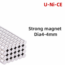 100 pieces 4mmX4mm strong cylinder rare earth magnet 4X4 neodymium N35 Mini small round magnets 4*4mm