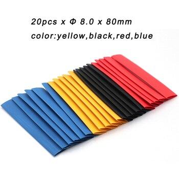 20 unids/pack kit electrónico de envoltura de alambre de tubo termo-restricción de Cable Gaine termorretractable Retractil retráctil