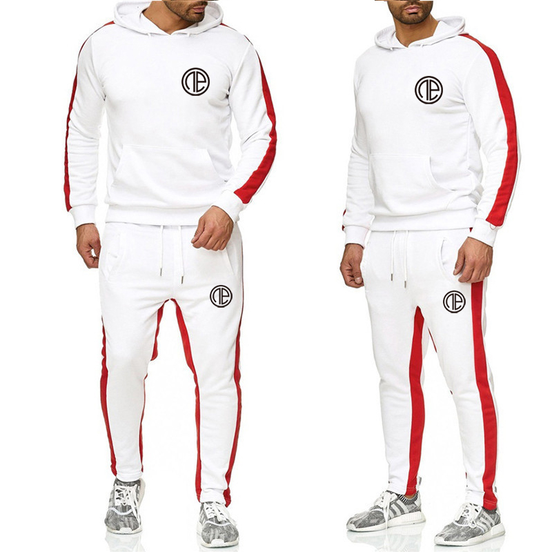 2019 Men's Sportswear Hoodie Suit Winter Thickening Brand Sweater Hoodie Suit Jogger Large Size Sports Suit Men's Clothing