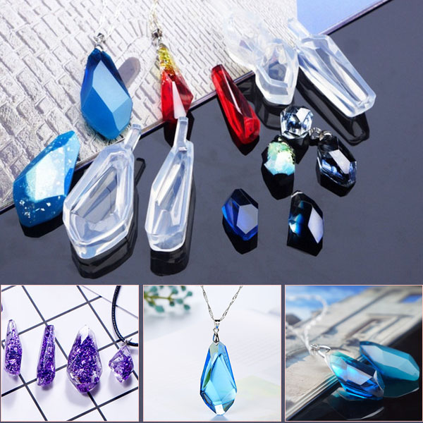 Mix Shape Cabochon Mini Silicone Earring Necklace Pendant Mold For Epoxy Resin Jewelry Earring Making DIY Crafts