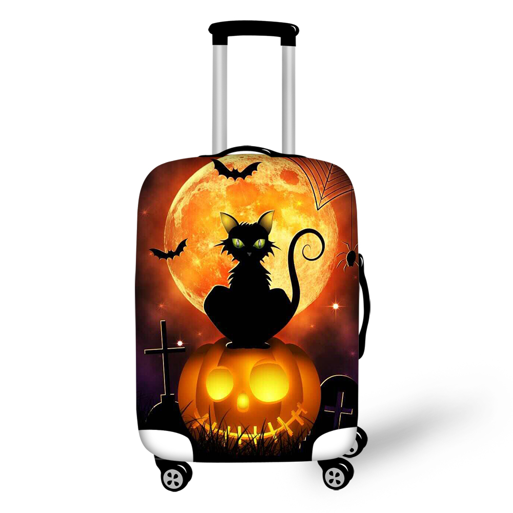 Elastic Luggage Covers for 18-32 inch Suitcase Halloween Jack-O'-Lantern Travel Suitcase Protective Cover Luggage Accessories