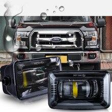 Premium led projetor luz de nevoeiro lente clara para ford f150 2015 2016 2017 2018 plug and play