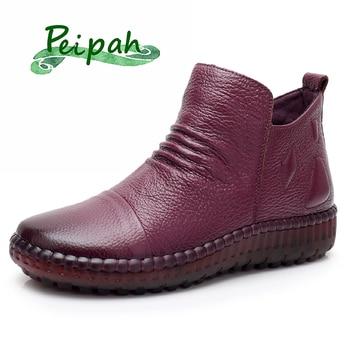 PEIPAH Spring/Autumn Ankle Boots Women