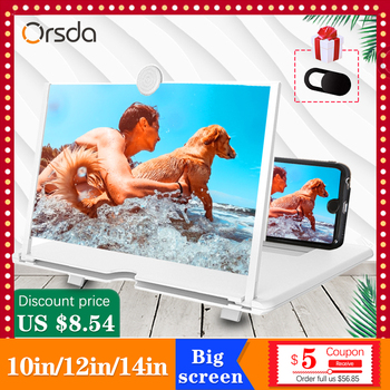 Orsda 10/12/14 inch HD Stylish Universal Screen Amplifier 3D Mobile Phone Screen Amplifier for All Mobile Phone Mag