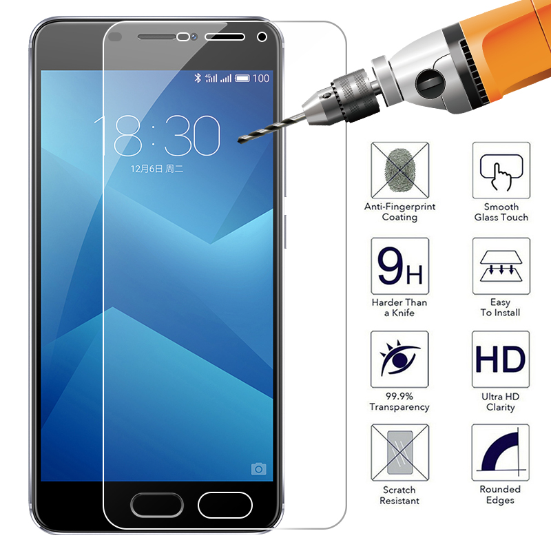 Protective Tempered Glass For Meizu 16th M6 M3 Note M5S Full Cover Screen Protector For Meizu 16X M5C M5 Note Pro7 Plus