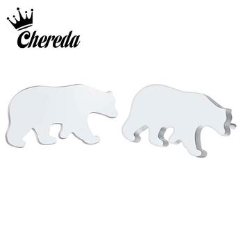 Chereda Earrings New Fashion Norse Bear Earrings for Women Simple Cute Animal Owl Stud Earrings for Girls Jewelry Gift Party image
