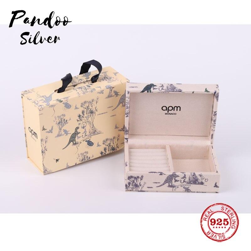 Fashion Charm Sterling Silver Copy 1:1 Replica,Jewel Box XS Size With Dinosaur Monaco Luxury Jewelry Gift