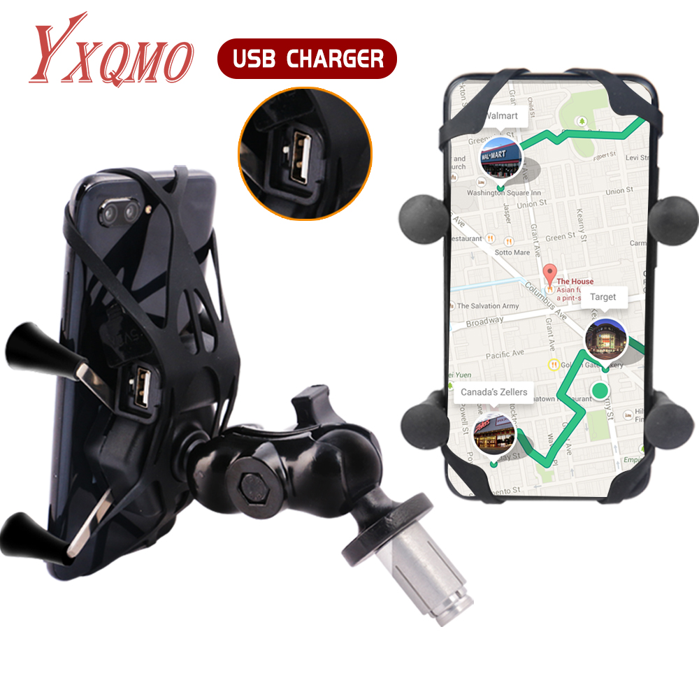 Phone Holder Fork Stem Mount Bracket Motorcycle GPS Navigation for YXQMO For Honda F5 CBR650F <font><b>VFR1200</b></font> USB Charger image