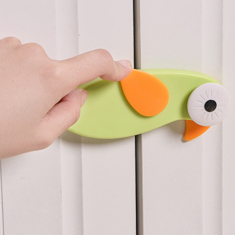 Cute Cartoon Bird Safety Locks For Refrigerators Castle Security Blocker Padlock Door Infant Baby Protection From Children Lock