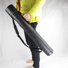 Case Poster Storage-Tube Stretch-Scroll-Holder with Carrying-Strap Plastic Large 1pc