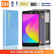 цена на Original LCD For Xiaomi Mi 4 M4 Mi4 LCD Display + Touch Screen Digitizer Assembly with Frame Replacment For Xiaomi mi4 lcd