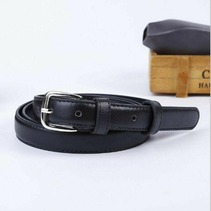 110cm Women 4 Colors Belts Leather Metal Pin Buckle Waist Belt Waistband