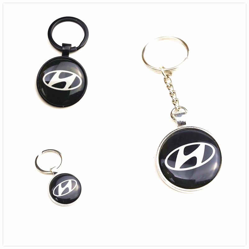 Car Styling Auto Emblem Metal Keyring Case For Solaris Ix35 I20 I30 I40 HYUNDAI Tucson CRETA Santa Fe Car Styling