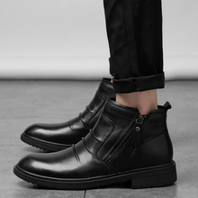 Brand New Comfortable Men Shoes Ankle Boots *9181 Short Winter Warm Size 36-47 Fashion Pu Leather