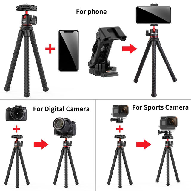 Flexible Travel Octopus Tripod for Phone with Remote Control