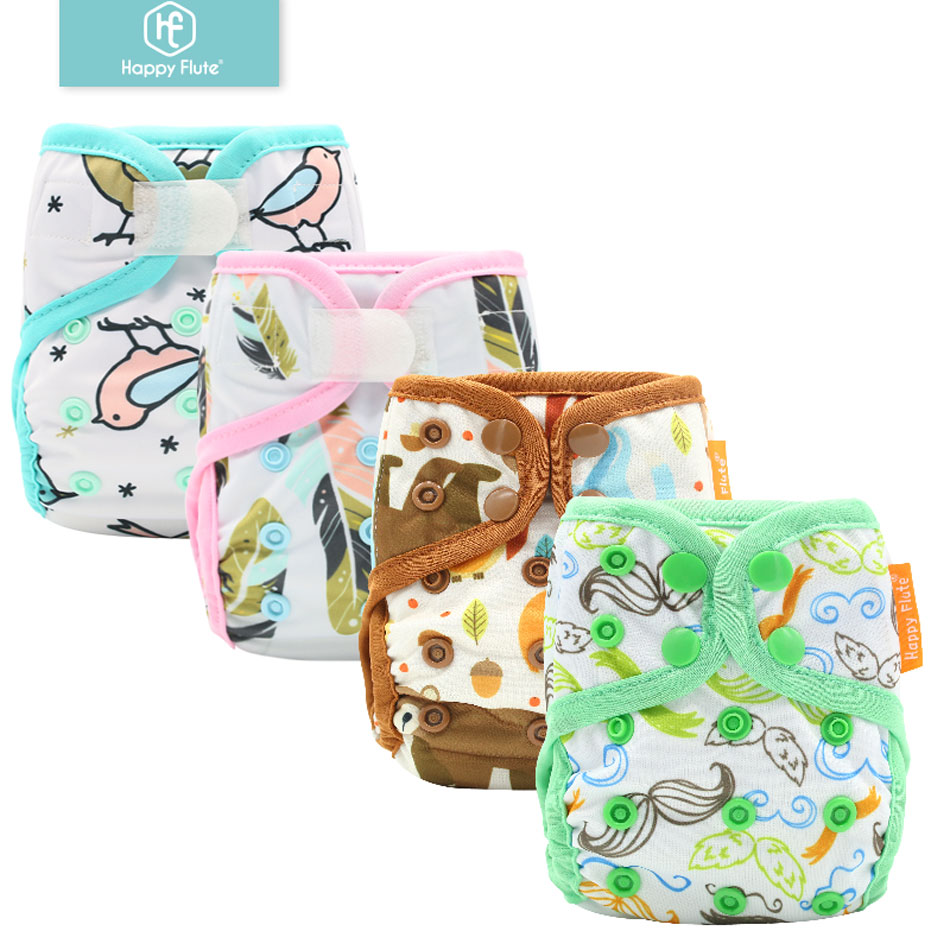 Happyflute Newborn Print PUL  Design Snap Or Hook&loop Eco-friendly Cloth Diaper Cover BABY COVER